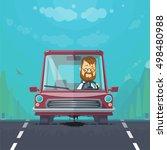 trendy flat design vehicle... | Shutterstock .eps vector #498480988
