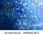 medical abstract background .... | Shutterstock . vector #498482203