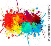 abstract splatter color design... | Shutterstock .eps vector #498484840