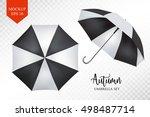 vector parasol rain umbrella ... | Shutterstock .eps vector #498487714
