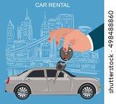 car keys and remote  rental...   Shutterstock . vector #498488860