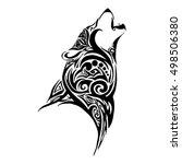 wolf head howl design for... | Shutterstock .eps vector #498506380
