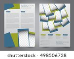 brochure template. business... | Shutterstock .eps vector #498506728