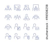 simple conference icon set.... | Shutterstock .eps vector #498508258