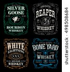 whiskey label t shirt graphics... | Shutterstock .eps vector #498508684