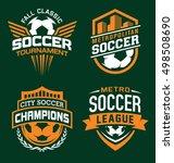 soccer sport emblem set | Shutterstock .eps vector #498508690
