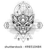animal head triangular icon  ... | Shutterstock .eps vector #498510484