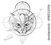animal head triangular icon  ... | Shutterstock .eps vector #498511054
