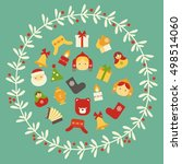 vector flat set of icons of new ... | Shutterstock .eps vector #498514060