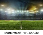 stadium with fans the night... | Shutterstock . vector #498520030