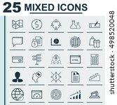 set of 25 universal editable... | Shutterstock .eps vector #498520048