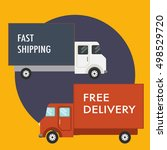 fast shipping and free delivery ... | Shutterstock .eps vector #498529720