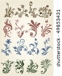 vintage ornament flores | Shutterstock .eps vector #49853431