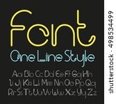 vector linear font   simple and ...   Shutterstock .eps vector #498534499
