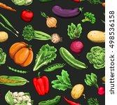 raw vegetables. carrot  tomato  ... | Shutterstock .eps vector #498536158