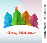 christmas tree paper colored | Shutterstock .eps vector #498550348