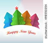 christmas tree paper colored | Shutterstock .eps vector #498550354