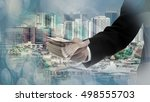 financial services concept | Shutterstock . vector #498555703