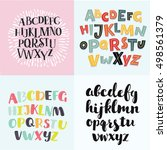 vector set of colorful four... | Shutterstock .eps vector #498561379