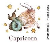 zodiac sign   capricorn.... | Shutterstock . vector #498566059