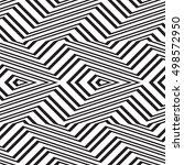 black and white geometric... | Shutterstock .eps vector #498572950