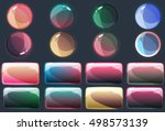 colorful glossy buttons set on...