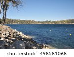 shoreline view of lake... | Shutterstock . vector #498581068