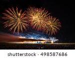 colorful fireworks of various... | Shutterstock . vector #498587686