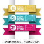 steps options and infographic... | Shutterstock .eps vector #498593434