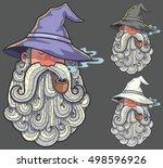 Portrait Of Wizard Smoking Pipe ...