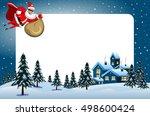 xmas frame featuring santa... | Shutterstock .eps vector #498600424