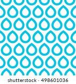 seamless pattern. blue drops on ... | Shutterstock .eps vector #498601036