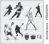 illustration of sports players. ... | Shutterstock .eps vector #498605056