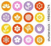 Flower Icon Set. Vector...