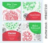 italian food vintage design... | Shutterstock .eps vector #498607210