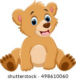 cute baby bear cartoon | Shutterstock .eps vector #498610060
