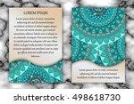 invitation card design template.... | Shutterstock .eps vector #498618730