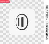 pause button vector icon | Shutterstock .eps vector #498619489