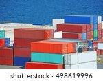 port cargo container in port of ...   Shutterstock . vector #498619996
