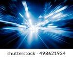 Blurred Traffic Light Trails O...