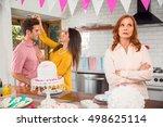 jealous mother older single... | Shutterstock . vector #498625114
