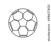 ball of soccer sport design | Shutterstock .eps vector #498627820