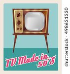 """tv made in 50 s""  television... 