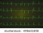 typical human electrocardiogram ... | Shutterstock .eps vector #498631858