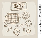 barbecue grill objects  | Shutterstock .eps vector #498633130