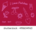 set of stickers  pins  patches... | Shutterstock .eps vector #498634963
