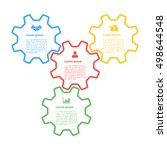 infographic concept  four gears ... | Shutterstock .eps vector #498644548