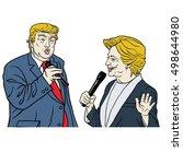 october 15  2016  presidential...   Shutterstock .eps vector #498644980