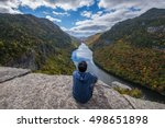 man sitting on indian head... | Shutterstock . vector #498651898