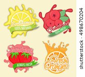 creative stickers of lemonade ... | Shutterstock .eps vector #498670204